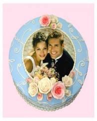PHOTO WEDDING or ANNIVERSARY CAKE