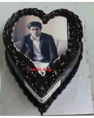 Heart Shape  Photo Cake - 1 KG