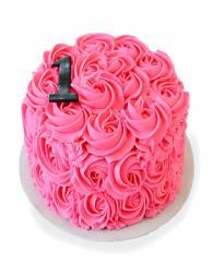 Pink Rose Cake - 1 KG
