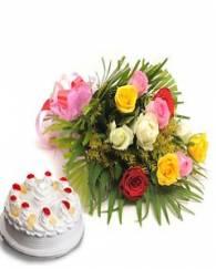 Mix Flowers & Cake