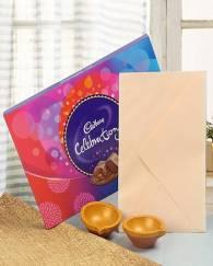Celebration Chocolate and diya