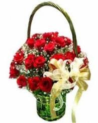 24 Roses in Basket