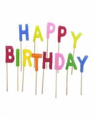 Happy Birthday Pick Candle Set