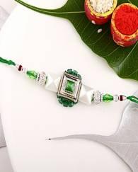 Green Pyramid Fancy Rakhi