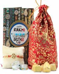 FLORAL RAKHI & HANDMADE CHOCOLATES