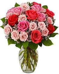 Mix Rose in Glass Vase