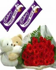 Teddy Chocolates Roses