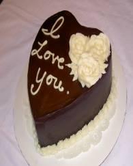 Valentines Chocolate Heart Cake